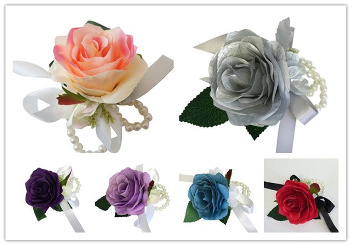 Wrist Corsage-Pick Hydrangea color and Ribbon color.